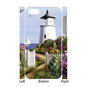 Lighthouse Wholesale DIY 3D Cell Phone Case Cover for iPhone 4,4S, Lighthouse iPhone 4,4S 3D Phone Case