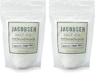 product image for Jacobsen Salt Co - 4 oz Bag of Flake Finishing Sea Salt, Hand Harvested in Netarts Bay, ORMade in USA, 2 Pack