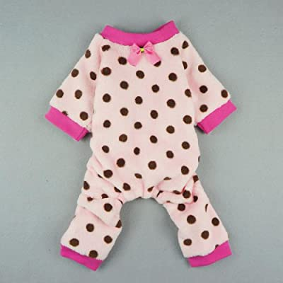 Fitwarm® Adorable Pink Pet Dog Pajamas for Dog Winter Coat Clothes Jumpsuit