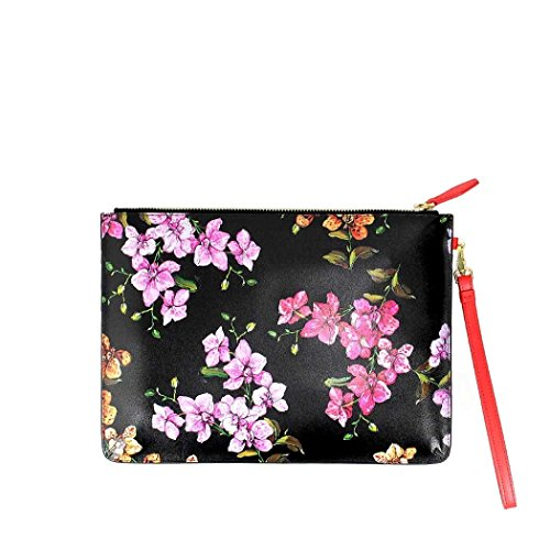 Pinko Ladies 1p2147y4jjz99 Clutch In Pelle Nera