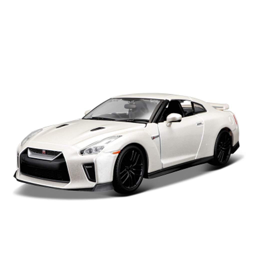 GAOQUN-TOY 1 24 Nissan GTR Car Model Sports Car Simulazione Metallo Lega Modello di Auto Decorazione Modello di Auto (colore   Bianca, Dimensioni   19.8CM9.7CM8.8CM)