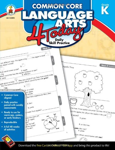 Amazon.com: Common Core Language Arts 4 Today, Grade K: Daily ...