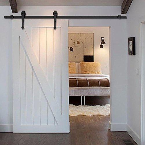 new-6-ft-black-modern-antique-style-sliding-barn-wood-door-hardware-closet-set-by-wood-door