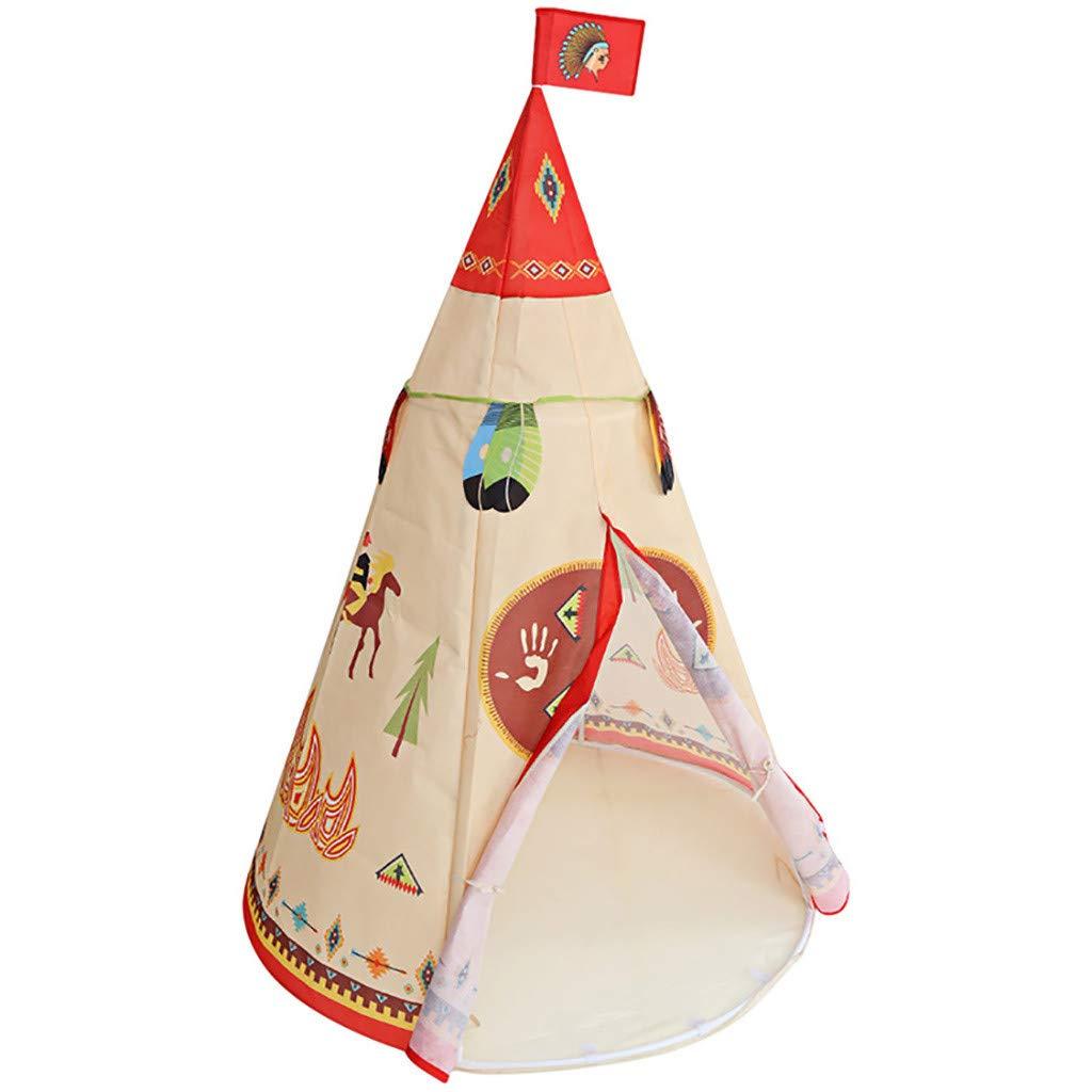 JXQ-N Kinder Outdoor Zelt Kinderzimmer Faltbare Spielzelt Set mit Tragetasche Indoor Outdoor Indianerzelt mit Fenster 100% BaumwolleB07PGQ381MSpielzelteeine große Vielfalt     | Online einkaufen