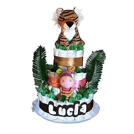 Tartas originales de pañales Dodot - Selva Tigre rosa - Mil Cestas