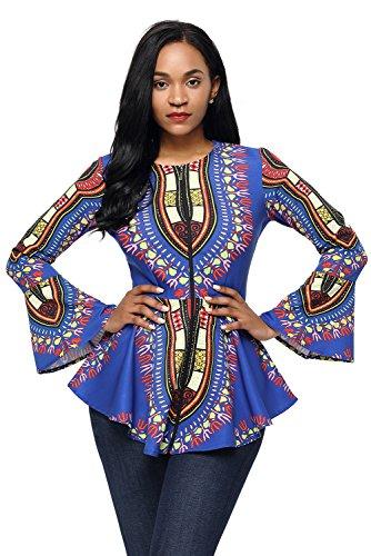 HOTAPEI African Printed Sleeve Clubwear