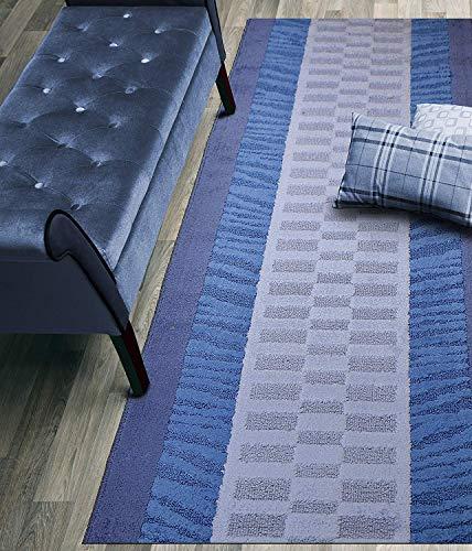 Custom Size Zebra Hallway Runner Rug Slip Resistant, 26 Inch Wide x Your Choice of Length Size, Blue, 26 Inch X 4 feet (Carpet Entrance)
