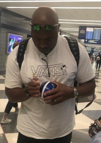 Autographed College Mini Helmets DERMONTI DAWSON signed KENTUCKY WILDCATS THROWBACK mini football helmet W//COA