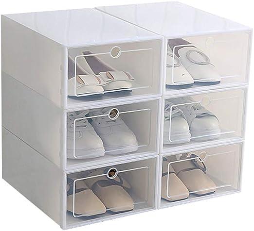 OurLeeme 6 Cajas para Zapatos Transparente Plástico, Caja Guardar ...