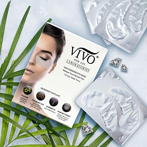 Vivo Per Lei Diamond Under Eye Patches | Collagen Eye Mask & Dark Circles Mask | Let Your Eyes Talk with this Anti Aging Under Eyes Bag Treatment | Collagen Eye Patch with Diamond Powder | Set of 10 by Vivo Per Lei (Image #3)