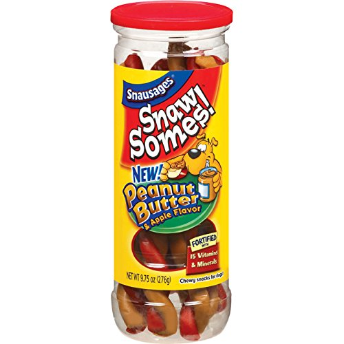 Snausages Snawsomes Dog Treats, Peanut Butter And Apple, 9.75 Ounce (Pack Of ()