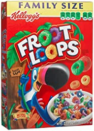 Kellogg\'s Froot Loops Cereal, 21.7-Ounce Boxes (Pack of 4)