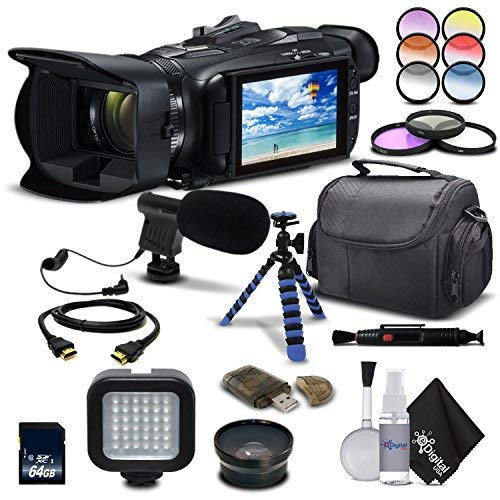 Canon VIXIA HF G21 Full HD Camcorder 2404C002 – Starting Out Bundle – with Wide Angle Lens, Filter Kit, Mic, Light, Tripod and Much More.