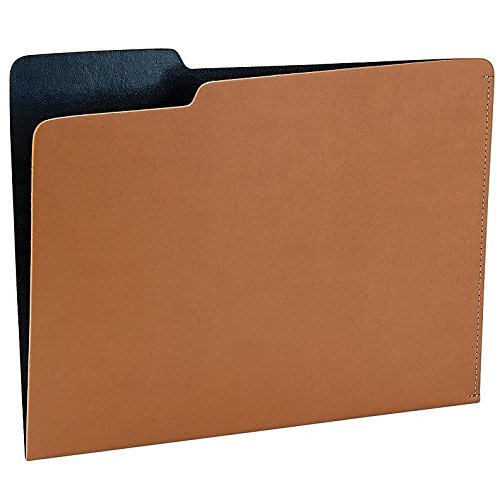 The CARLO File Folder TAN/Navy Eco-Leather by Graphic Image - 8.5x11