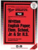 Written English Paper, Elem. School, Jr. and Sr. H. S., Rudman, Jack, 0837380618