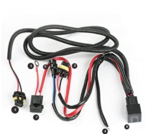 512DBLoJneL._SX300_ amazon com xenon hid conevrsion kit relay wiring harness 9005 hid wiring harness at webbmarketing.co