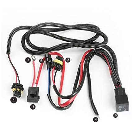 amazon com xenon hid conevrsion kit relay wiring harness 9005 9006 rh amazon com