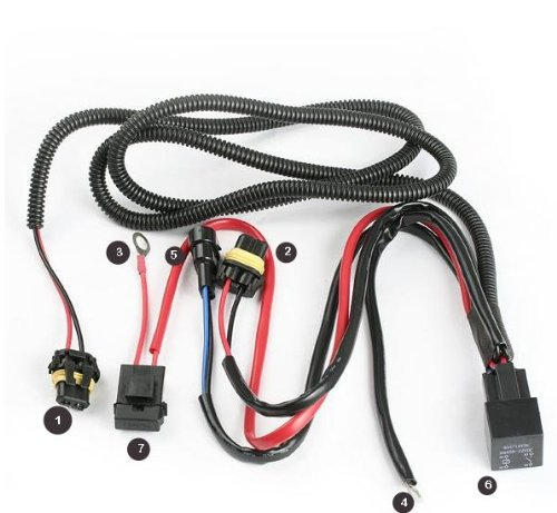 Hid Wiring Harness (Xenon HID Conevrsion Kit Relay Wiring Harness 9005 9006 9012 9145 H10 HB3 HB4)