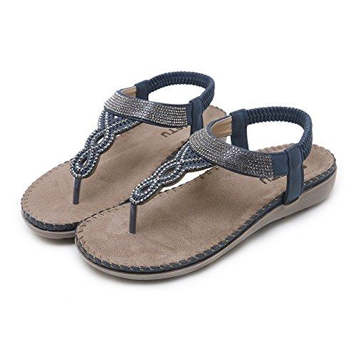Gladiator QXXC Apricot Strass en Rivet 5 Toe Sandales Bohème Premier KJJDE Cuir Chaussures Peep 2081 Appartements fZxXvwq