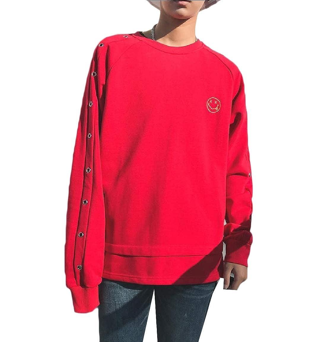 Vska Mens Fall Comfy Big-Tall Crew Neck Cotton Sports Sweatshirts Top