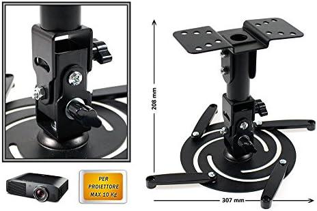 vetrineinrete® Soporte para proyector de techo universal carga max ...