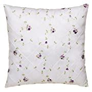 Glenna Jean Cottage Collection Sweet Pea Pillow Emb Overly Face, Pink gingham back