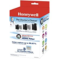 2 x Honeywell Filter R True HEPA Replacement Filter - 1 Pack of 3 filters