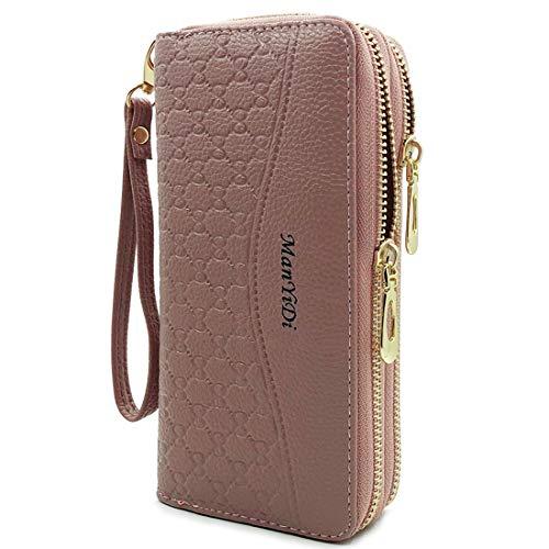 - Wallet-NEWANIMA Women Multi-card Two Fold Long Zipper Clutch Purse (Style6-Pink)