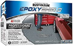 Rust-Oleum EPOXY Shield Professional Floor Coating strengthens and protects shops and other commercial concrete surfaces. Apply for excellent wear, impact and abrasion resistance to heavy foot and vehicle traffic. Kit includes 2-part solvent-...