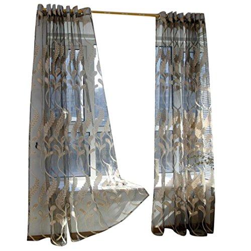 Hot Sale!!! Window Curtains,Jushye Wheat Sheer Curtain Tulle Window Treatment Voile Drape Valance 1 Panel Fabric Home Decor ()