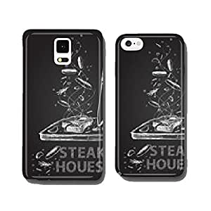 Steak house quotes chalkboard illustration cell phone cover case Samsung S5