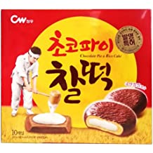 CWFOOD Choco Pie CHAL-TTEOK 215g Pack of 10 pieces of individually packed pies per box (Mochi Choco)