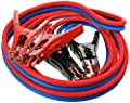 Heavy Duty 500 Amp 6 Gauge Jumper Cables Extra Long 12ft No Tangle Battery Booster Cables 12 Feet with Free Travel Case
