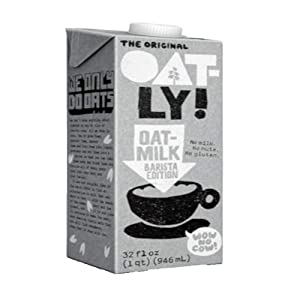 Oatly Oat Milk Barista Edition Non-Dairy Gluten Free, 32 oz (1 liter) - Pack of 2