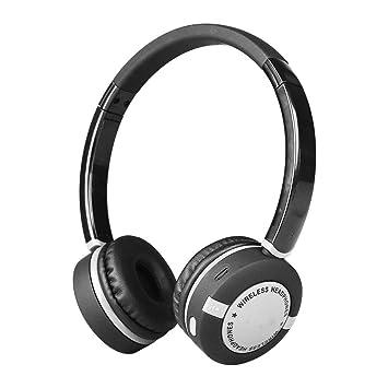HXMEJ Auriculares Auriculares Sobre el oído Los Auriculares inalámbricos Bluetooth 4.2 se Pueden Doblar para Aprender Sobre Deportes y Escuchar Canciones: ...