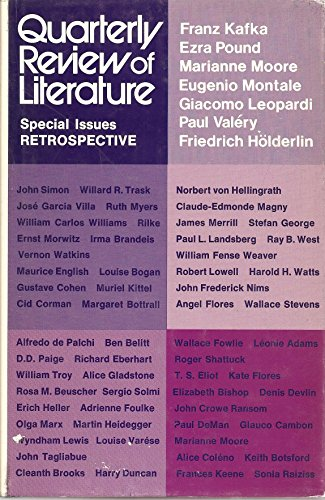 Quarterly Review of Literature Speciall Issues Retrospective (Volume XX, No 1 $ 2)