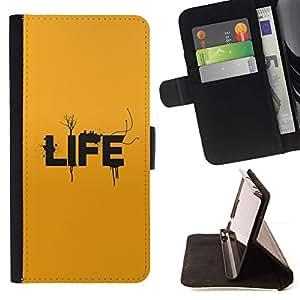 Momo Phone Case / Flip Funda de Cuero Case Cover - Tipografía Vida;;;;;;;; - LG G2 D800