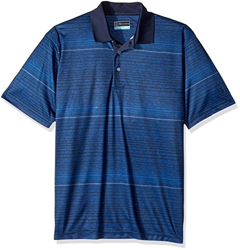 Florida Striped Shirt (PGA TOUR Men's Essential Short Sleeve Polo Shirt, Peacoat_PVKF7020, XXL)