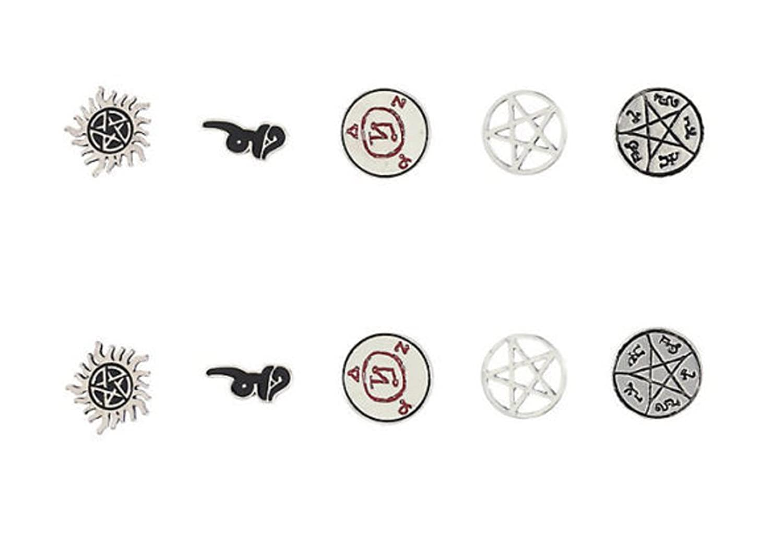 Amazon supernatural symbol 5 pair post earring set jewelry biocorpaavc Images
