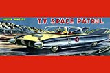 """Buyenlarge T.V. Space Patrol Car - Gallery Wrapped 32""""X48"""" canvas Print., 32"""" X"""