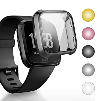 Isabake Funda para Fitbit Versa, Protector de Pantalla de TPU Protección Completa de Smart Watch Case Protectora Anti Rayones Compatible con Fitbit ...