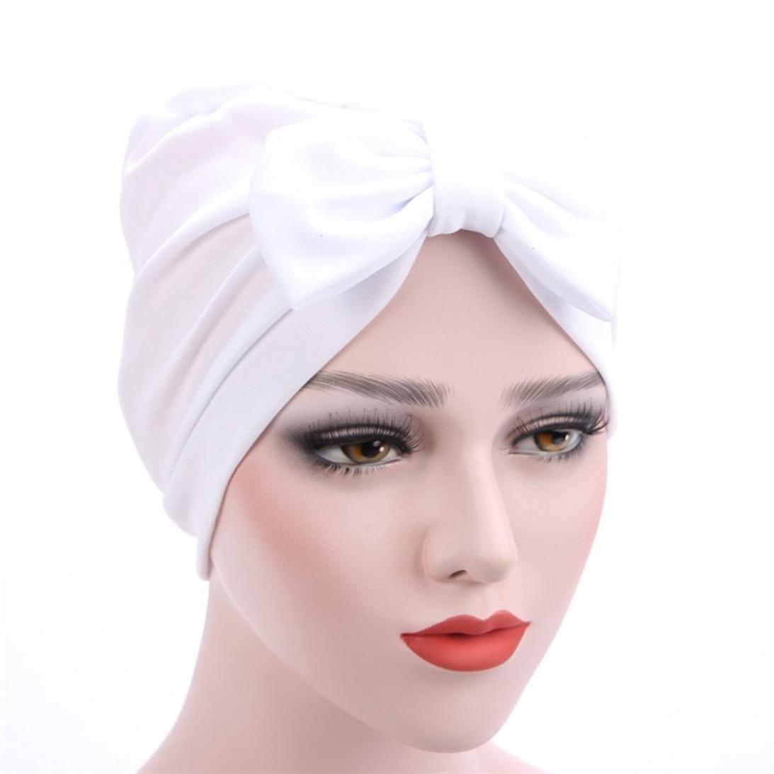 Purple Jaminy 2017 FASHION Women Cancer Chemo Hat Beanie Scarf Turban Head Wrap Cap Scarf Chemo Hat Turban Head Scarves Pre-Tied Headwear Bandana Tichel for Cancer
