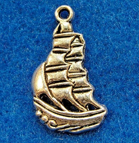 20Pcs. Tibetan Silver Sailboat Ship Boat Charms Pendants Earring Drops OT10 Jewelry Making Supply Pendant Bracelet DIY Crafting by Wholesale Charms