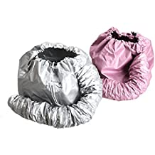 KINGZHUO 2 Pcs (one sliver another is pink) Portable Safe Women Hair Dryer Soft Bonnet Hood Attachment Haircare Salon Hairdressing Hat Cap