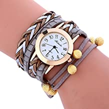 COOKI Womens Bracelet Watches Clearance Ladies Watches Leather Female Watches on Sale Cheap Watches-Q9 (Gray)
