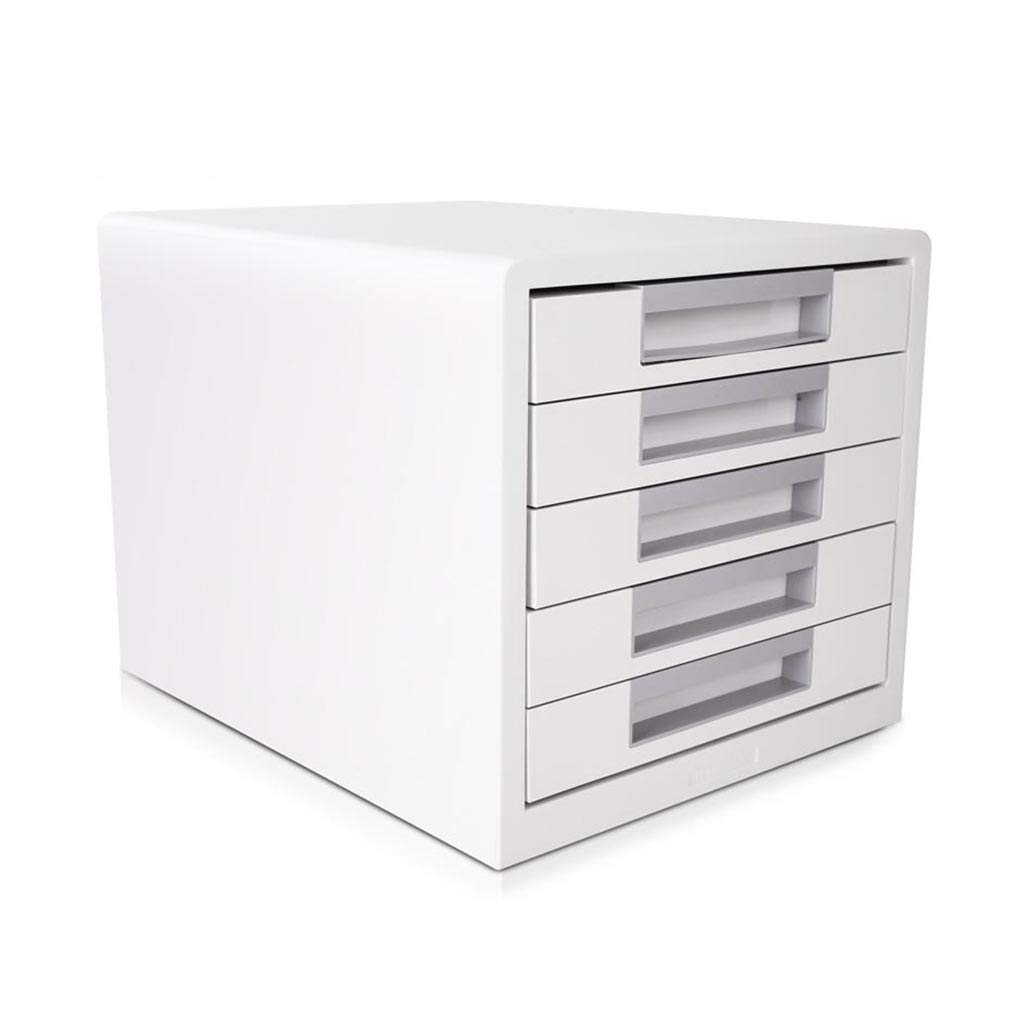 Bxwjg Desktop File Cabinet, for Storing Documents/Office Supplies, 5-Layer Drawer Organization Plastic 11in×13.6in×10.2in by Bxwjg