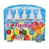 Sorlakar Tie Dye DIY Kit,5 Colors Shirt Fabric Tie Dye Kit for Kids,Adults Non-Toxic Vibrant Tie Dye Supplies with Rubber Bands,Gloves for DIY Arts and Crafts(Red,Yellow,Green,Blue,Orange) (Color: 5 Colors-C)