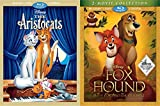 Disney Signature Movie Club Exclusive - The Fox and the House, The Fox and the Hound 2 & The Aristocats 2-Blu-ray DVD Bundle