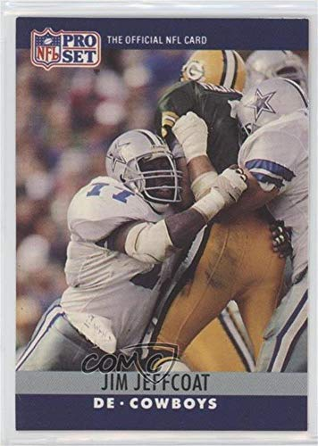 Jim Jeffcoat; Gary Clark (Football Card) 1990 Pro Set - Printing Proof Errors #JJGC