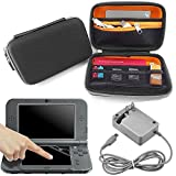 #7: EEEKit 3in1 Starter Kit for NEW Nintendo 3DS XL SNES Edition, Travel Carrying Case Bag, HD Clear Screen Protector, Wall Charger Power AC Adapter